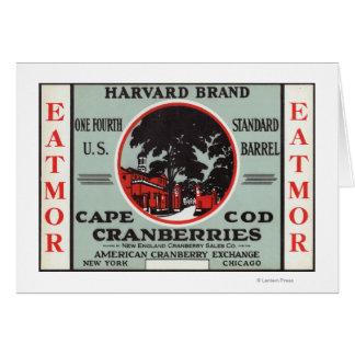 Marca de los arándanos de Cape Cod Harvard Eatmor Tarjeta De Felicitación