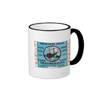 Marca de los arándanos de Cape Cod Mayflower Taza De Dos Colores
