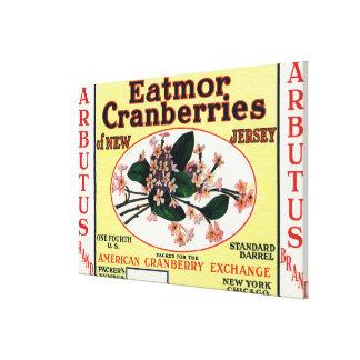 Marca de los arándanos de Eatmor del Arbutus Lienzo Envuelto Para Galerías
