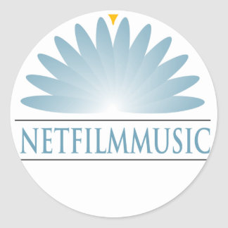 Marca de NETFilmMusic Pegatina Redonda
