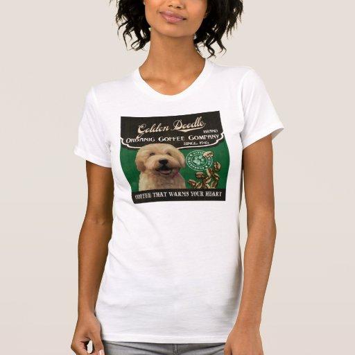 Marca de oro del Doodle - Organic Coffee Company Camisetas