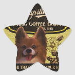 Marca de Papillon - Organic Coffee Company Calcomanía Forma De Estrellae