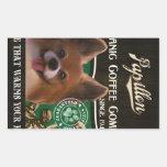 Marca de Papillon - Organic Coffee Company Rectangular Pegatinas