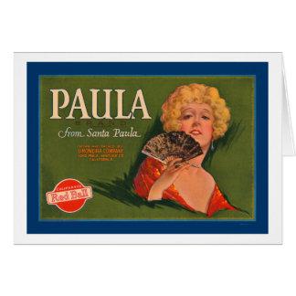 Marca de Paula de Santa Paula Tarjetas