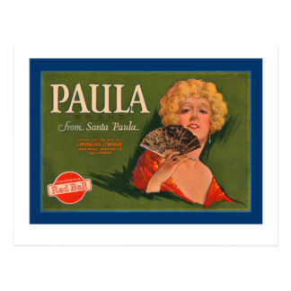 Marca de Paula de Santa Paula Tarjetas Postales