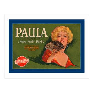 Marca de Paula de Santa Paula Postal