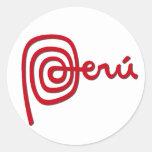 Marca de Perú/marca Perú Pegatina Redonda