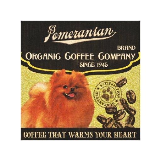Marca de Pomeranian - Organic Coffee Company Lona Estirada Galerías