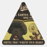 Marca de Portie - Organic Coffee Company Calcomanías Trianguladas