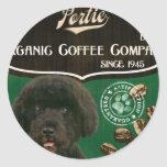 Marca de Portie - Organic Coffee Company Pegatinas Redondas