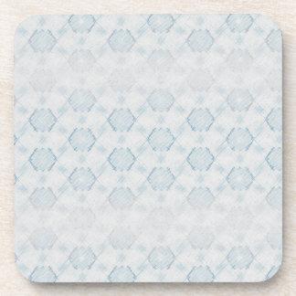 Marca de rayitas cruzadas azul posavasos de bebida