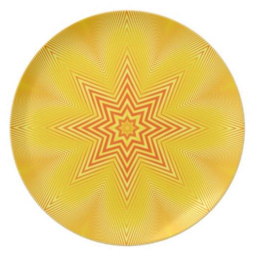 Marca de rayitas cruzadas de la cal platos
