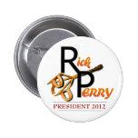 Marca de Rick Perry Pin Redondo De 2 Pulgadas