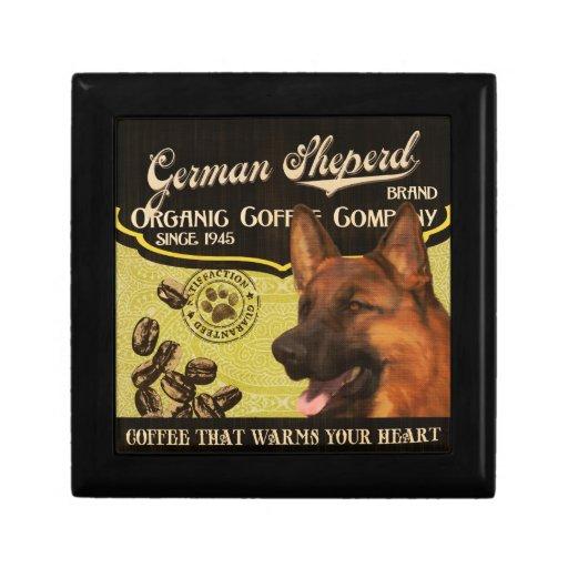 Marca de Sheperd del alemán - Organic Coffee Compa Caja De Joyas