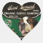Marca de St Bernard - Organic Coffee Company Calcomania Corazon
