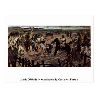 Marca de toros en Maremma de Giovanni Fattori Postal