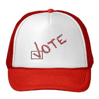 marca de verificación del voto gorras de camionero