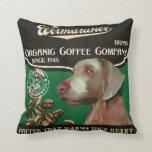 Marca de Weimaraner - Organic Coffee Company Cojin