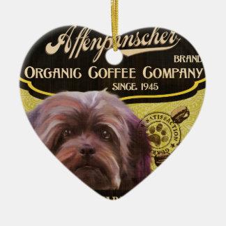 Marca del Affenpinscher - Organic Coffee Company Adorno De Cerámica En Forma De Corazón