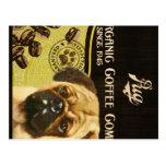 Marca del barro amasado - Organic Coffee Company Tarjetas Postales