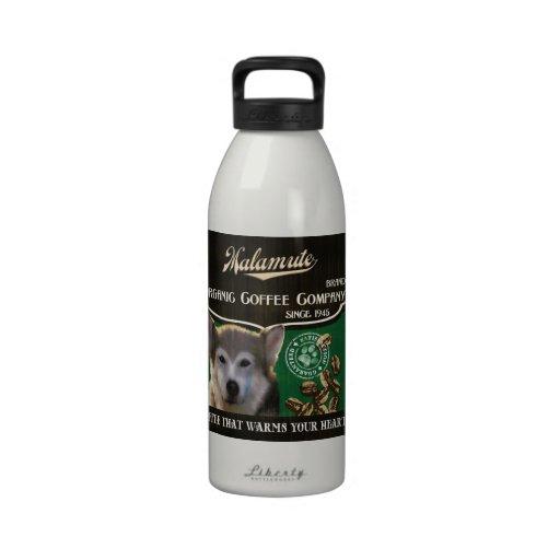 Marca del Malamute - Organic Coffee Company Botella De Agua