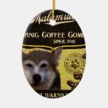 Marca del Malamute - Organic Coffee Company Adorno De Navidad