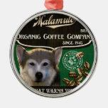 Marca del Malamute - Organic Coffee Company Adornos De Navidad