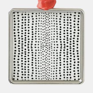 Marca del punto que hace el modelo adorno cuadrado plateado