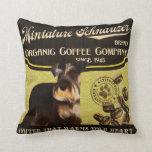 Marca del Schnauzer miniatura - Organic Coffee Com Almohada