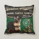 Marca del Schnauzer miniatura - Organic Coffee Com Almohadas