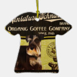 Marca del Schnauzer miniatura - Organic Coffee Com Adorno De Navidad