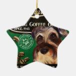 Marca del Schnauzer - Organic Coffee Company Ornamento De Navidad