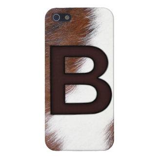 MARCA del zurriago de la letra B del monograma - O iPhone 5 Carcasas