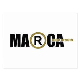 Marca logo postcards