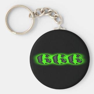 Marca malvada del llavero del verde 666 de la