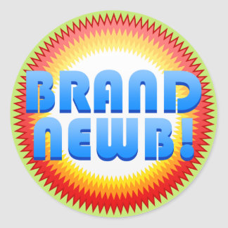 Marca Newb (Starburst) Etiqueta Redonda