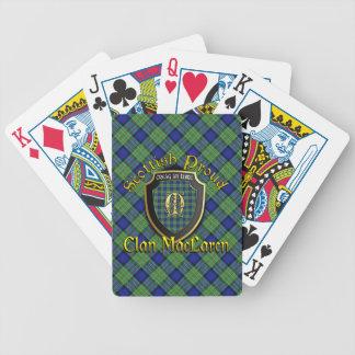 Marca orgullosa escocesa de la bicicleta de baraja de cartas