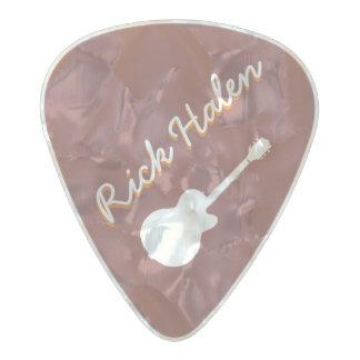 marca personalizada del guitarrista púa de guitarra celuloide nacarado