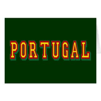 """Marca """"Portugal"""" por Fás do Futebol Português Greeting Cards"""