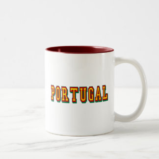 """Marca """"Portugal"""" por Fás do Futebol Português Two-Tone Coffee Mug"""