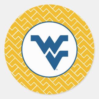 Marca primaria azul de WV Pegatina Redonda