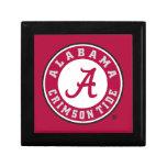 Marca primaria de Alabama - rojo Caja De Recuerdo
