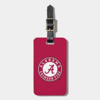 Marca primaria de Alabama - rojo Etiquetas Maletas
