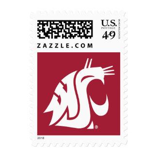 Marca primaria de WSU - blanco Sellos