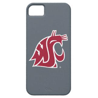 Marca primaria de WSU - rojo iPhone 5 Case-Mate Protectores