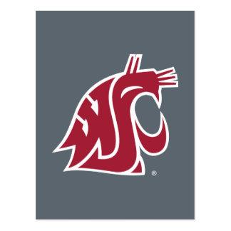 Marca primaria de WSU - rojo Postal