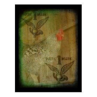 Marca registrada barrada del gallo de la roca postal