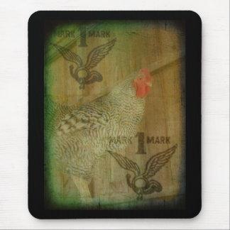 Marca registrada barrada del gallo de la roca tapetes de ratones