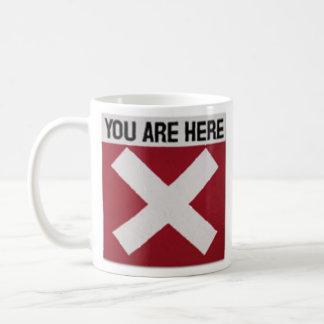 Marca X el punto Taza De Café