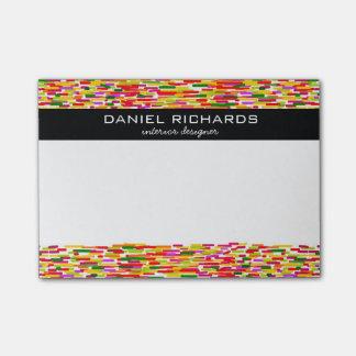 Marcado en caliente colorido moderno del post-it® nota